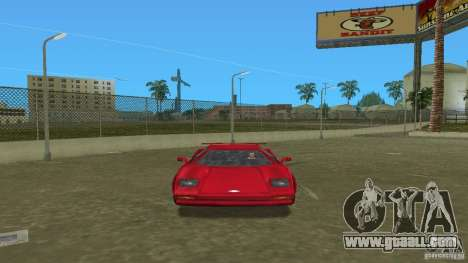 Infernus BETA for GTA Vice City back left view