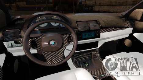 BMW X5 4.8IS BAKU for GTA 4 back view