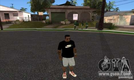 T-shirt By Nike for GTA San Andreas