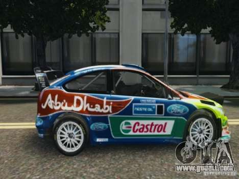 Ford Focus RS WRC for GTA 4 back left view
