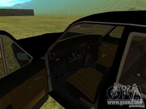 GAZ-24 Volga 01 for GTA San Andreas back view