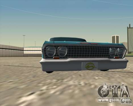 Chevrolet Impala 1963 lowrider for GTA San Andreas inner view