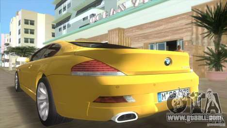 BMW 645Ci for GTA Vice City inner view