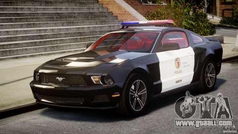 Ford Mustang V6 2010 Police v1.0 for GTA 4
