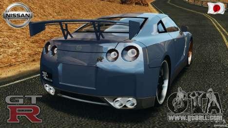 Nissan GT-R 35 rEACT v1.0 for GTA 4 back left view