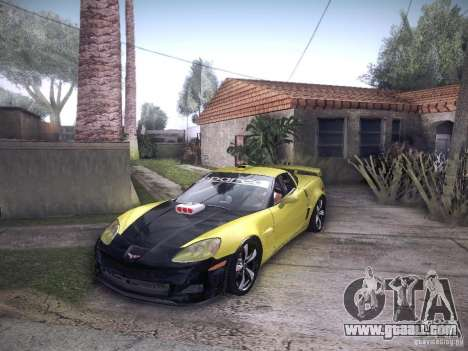 Chevrolet Corvette C6 Z06 Tuning for GTA San Andreas inner view