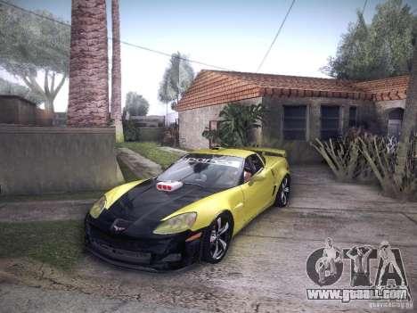 Chevrolet Corvette C6 Z06 Tuning for GTA San Andreas inner view