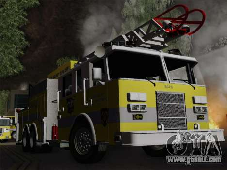 Pierce Arrow XT BCFD Tower Ladder 4 for GTA San Andreas upper view
