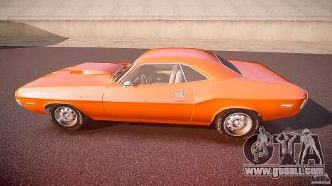 Dodge Challenger v1.0 1970 for GTA 4 left view