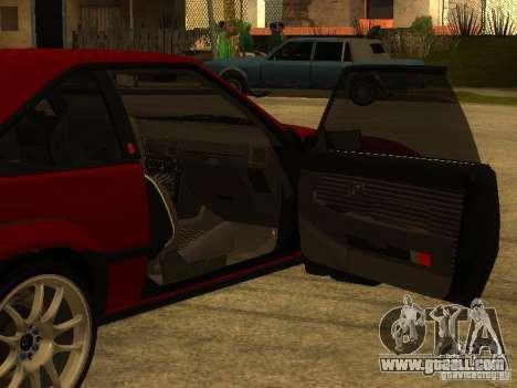 Toyota Celica Supra for GTA San Andreas interior