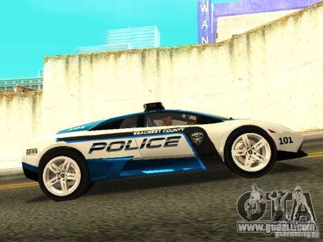 Lamborghini Murcielago LP640 Police V1.0 for GTA San Andreas left view