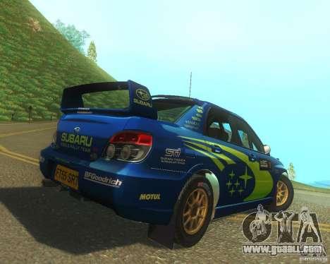Subaru Impreza WRX STI DIRT 2 for GTA San Andreas right view