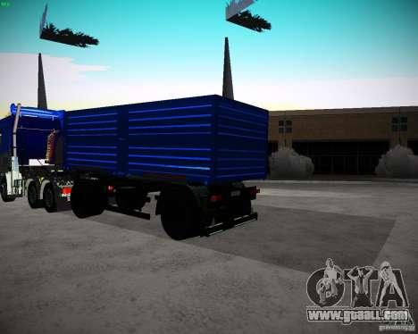 Kamaz 65117 Grain trailer for GTA San Andreas back left view