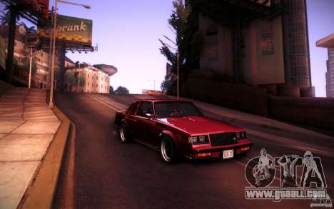Buick Regal GNX for GTA San Andreas right view
