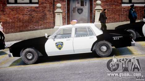 Chevrolet Impala Police 1983 for GTA 4 back left view