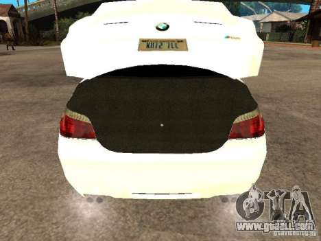 Bmw M5 Ls Ninja Stiil for GTA San Andreas back view