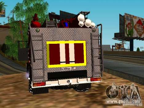 Ural 5557-40 fire for GTA San Andreas back left view