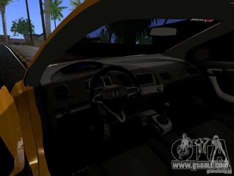 Honda Civic Si JDM for GTA San Andreas back view
