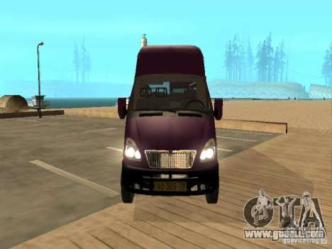 Gazelle 32213 taxi for GTA San Andreas right view