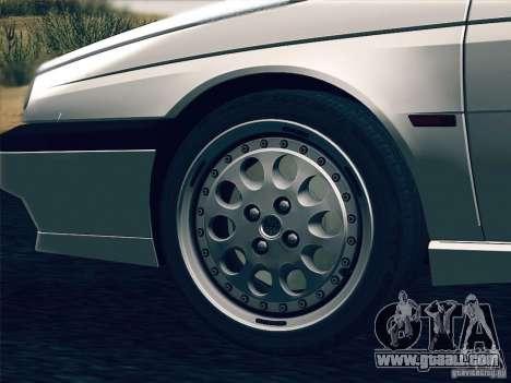 Alfa Romeo 155 1992 for GTA San Andreas bottom view