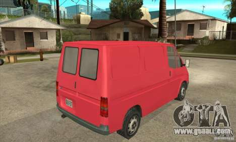 Ford Transit for GTA San Andreas back view