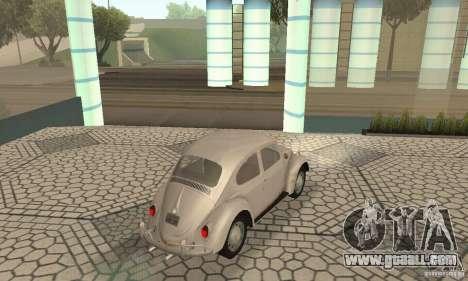 Volkswagen Beetle 1963 for GTA San Andreas left view