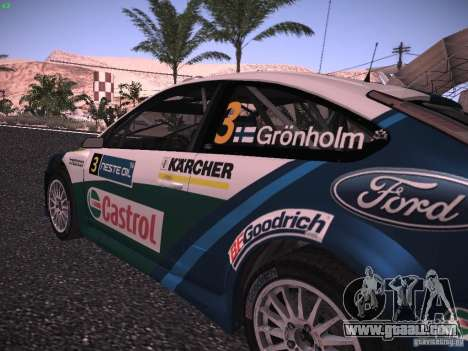 Ford Focus RS WRC 2006 for GTA San Andreas back view