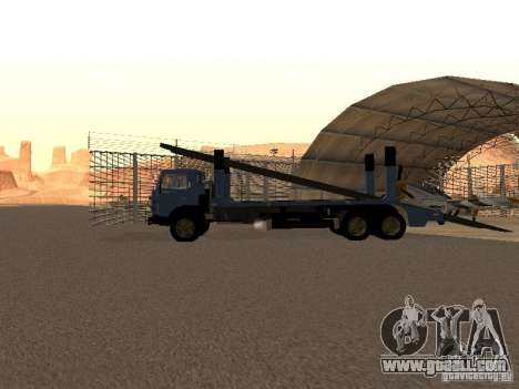KAMAZ truck for GTA San Andreas back left view