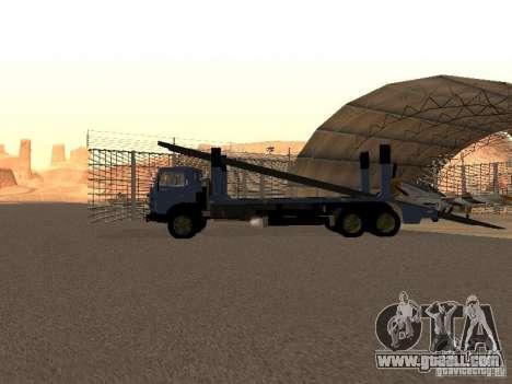 KAMAZ truck for GTA San Andreas back left view
