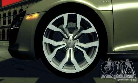 Audi R8 5.2 FSI Quattro for GTA San Andreas right view