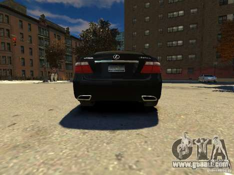 Lexus LS600 V2.0 for GTA 4 back left view