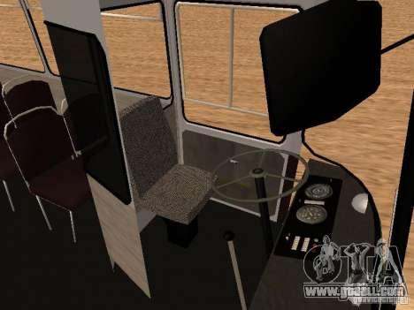 LAZ 695 for GTA San Andreas inner view