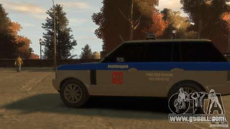 Land Rover Range Rover Police for GTA 4 back view