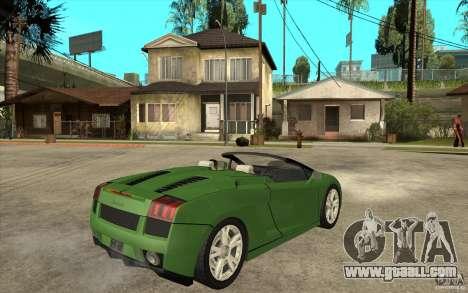 Lamborghini Gallardo Spyder for GTA San Andreas right view