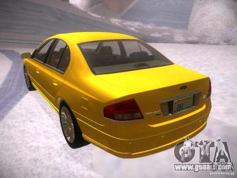 Ford Falcon for GTA San Andreas back view