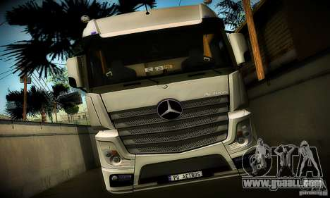 Mercedes-Benz Actros 2012 for GTA San Andreas back view