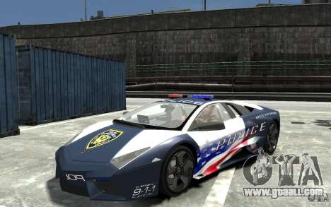 Lamborghini Reventon Police Stinger Version for GTA 4