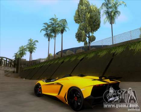 Lamborghini Aventador J TT Black Revel for GTA San Andreas back view