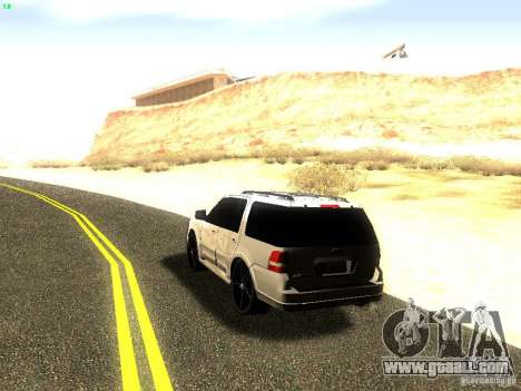 Ford Expedition 2008 for GTA San Andreas back view