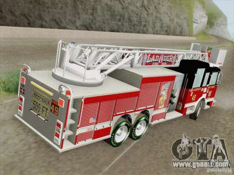 Pierce Rear Mount SFFD Ladder 49 for GTA San Andreas engine