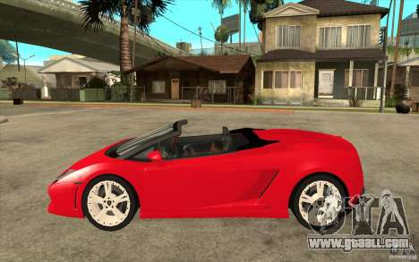 Lamborghini Gallardo LP560 Spider for GTA San Andreas left view