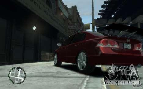 Honda Civic 2006 for GTA 4 back left view