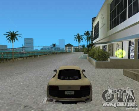 Audi R8 5.2 Fsi for GTA Vice City back left view