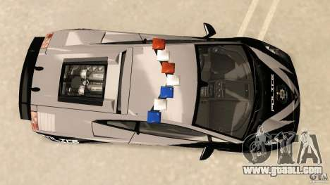 Lamborghini Gallardo Police for GTA Vice City right view
