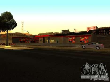The Ferrari garage in Dorothy for GTA San Andreas