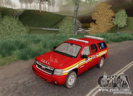 Chevrolet Suburban EMS Supervisor 862 for GTA San Andreas back left view