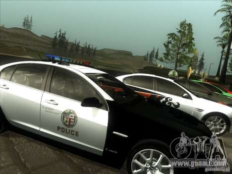 Pontiac G8 Police for GTA San Andreas back left view