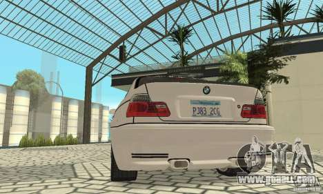 BMW M3 Tunable for GTA San Andreas engine