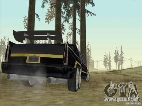 Limousine for GTA San Andreas back left view