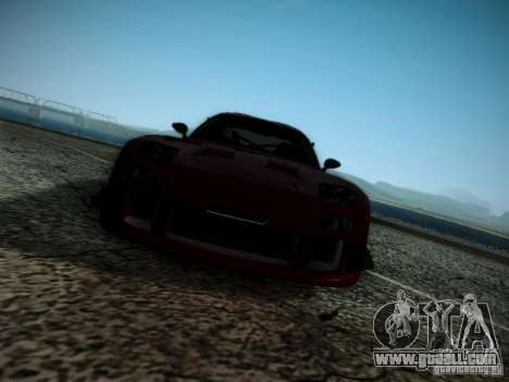 Mazda RX7 Drift for GTA San Andreas inner view